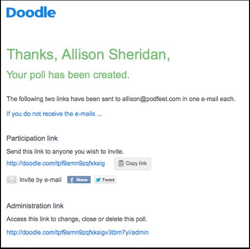 Doodle Simplifies Scheduling Podfeet Podcasts