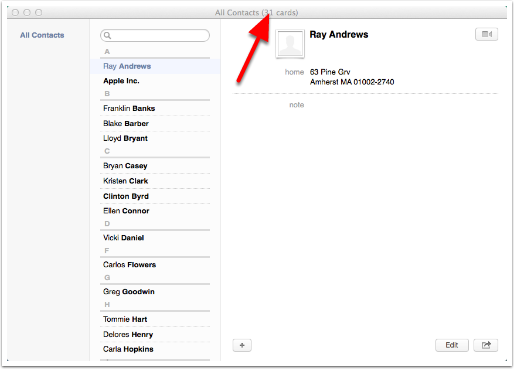 2.1 Contacts (Formerly Known As Address Book)