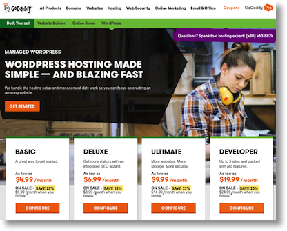Godaddy shared hosting