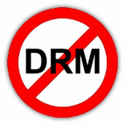 DRM with a red circle with a line through it