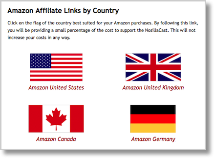 Country affiliate flags