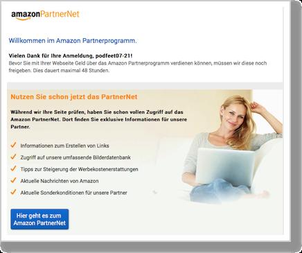 German signup page...in German!