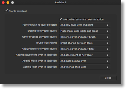 Affinity assistant
