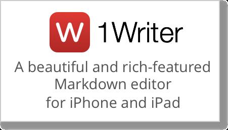 1writer logo slogan