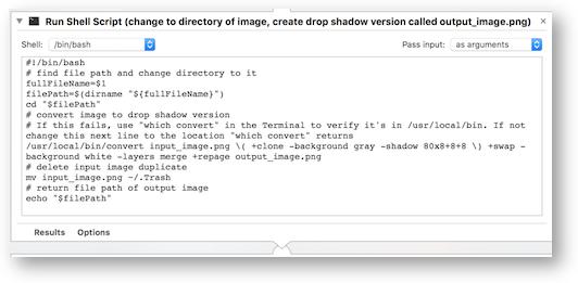 DropShadow shell script
