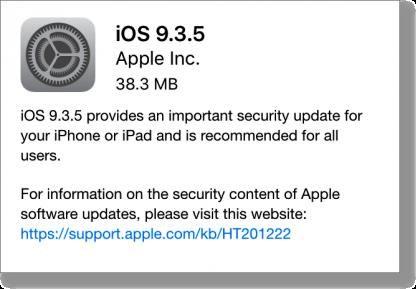 Ios 935 update