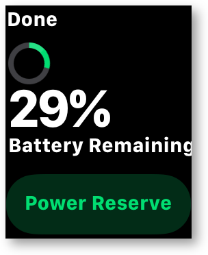 Apple watch 29 percent battery left