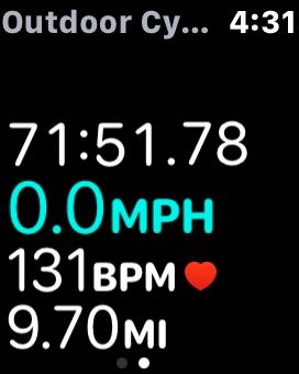 Apple watch cycling workout