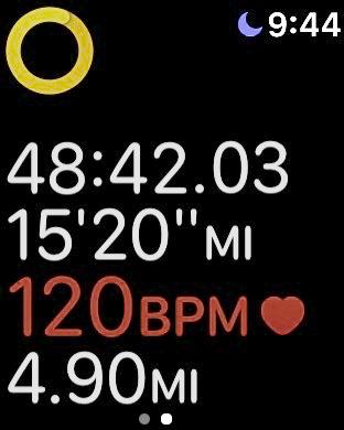 Apple watch running workout