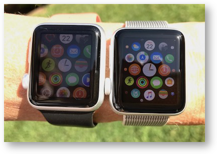 Apple watch series 0 vs 1 outdoor light