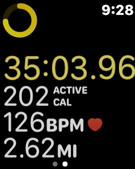 Apple watch walking workout