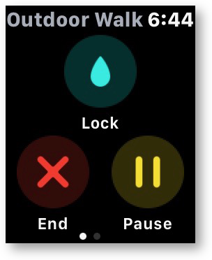 Water lock apple watch