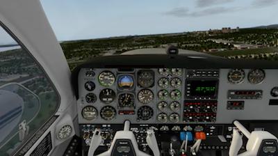 X plane cockpit view