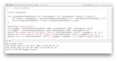 Xcode Swift Screen Shot