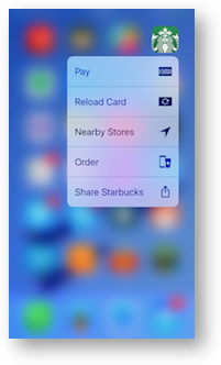 3d touch starbucks
