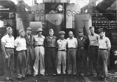 LST 965 crew Jack Moorhead 3rd from left