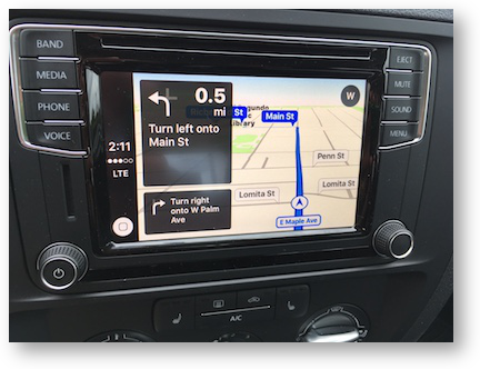 Carplay navigation