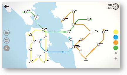 Mini metro many lines