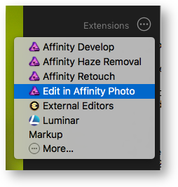 Edit in affinity photo