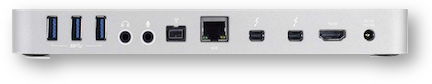 Owc thunderbolt 2 dock showing ports
