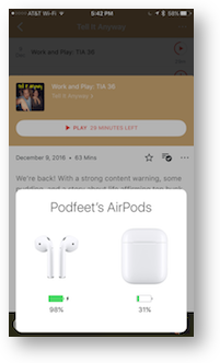 Airpods charge status