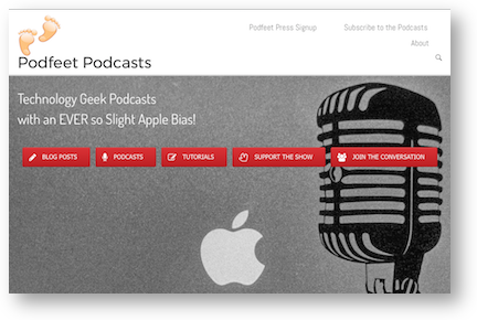 Podfeet redesign homepage
