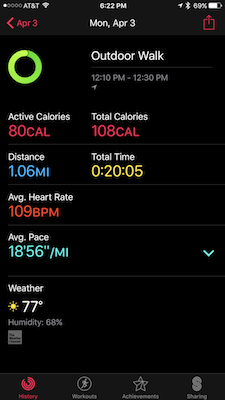 Apple watch al workout