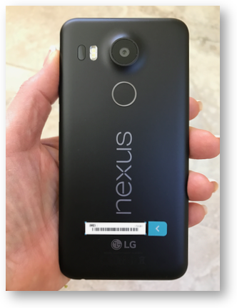 Nexus 5x back fingerprint camera