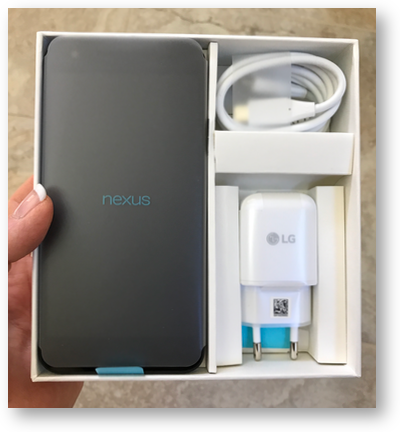 Nexus 5x in box