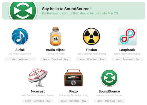 Rogue amoeba apps