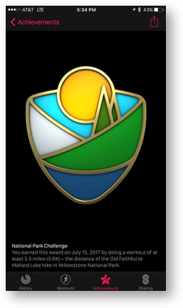 National parks badge
