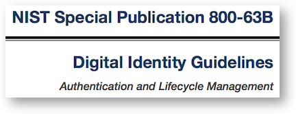 NIST digital identity guidelines