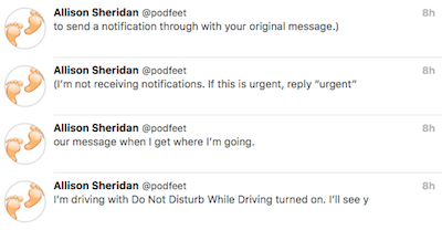 Do not disturb driving fail tweetstorm