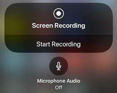 Screen recording add audio