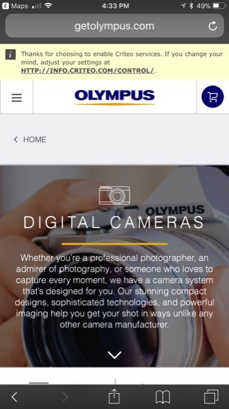 02 olympus thanks for tracking