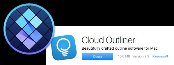 Setapp logo over Cloud Outliner logo