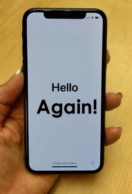 hello (again) on iPhone X