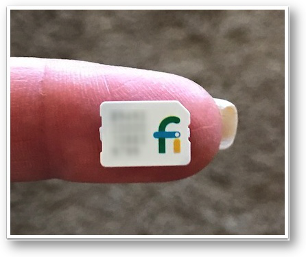 project fi card on my fingertip