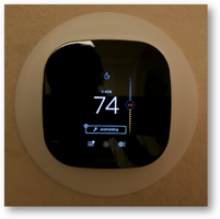 ecobee 3 showing 74F