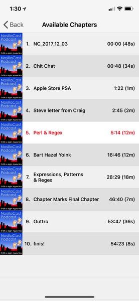 NosillaCast chapters in Downcast