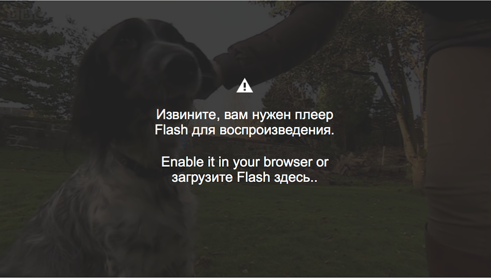 Russian BBC Flash Requirement