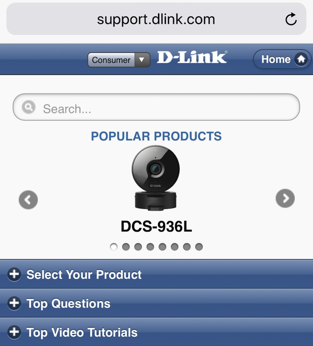 D-Link mobile support