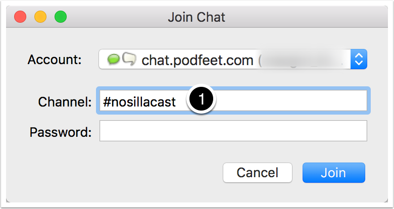 Dialog Chat Room Register