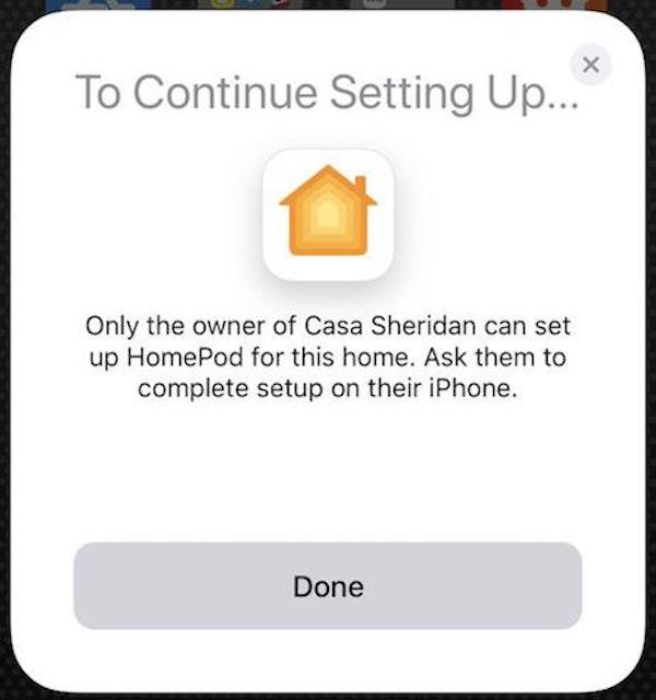 Steve denied HomePod setup
