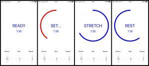 Original stretch timer screenshots