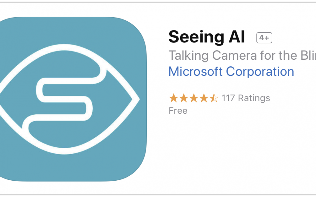 Seeing AI in the App Store