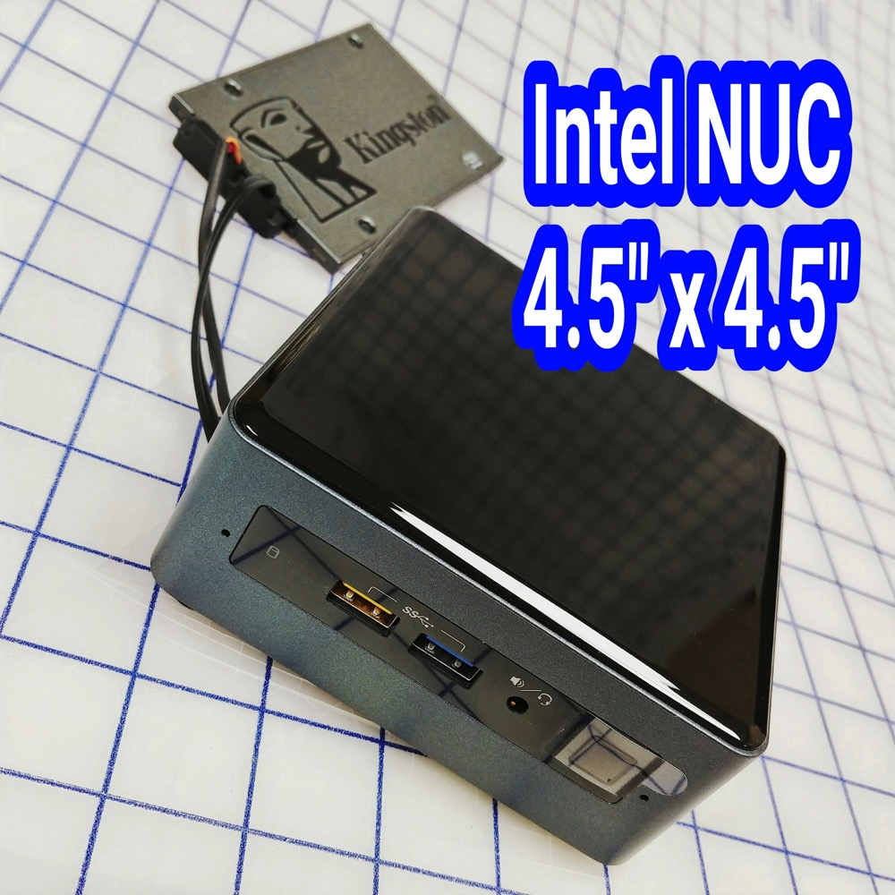 20180529 NUC with  external Kingston SATA boot drive 01