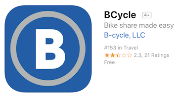 bcycle logo for iOS app