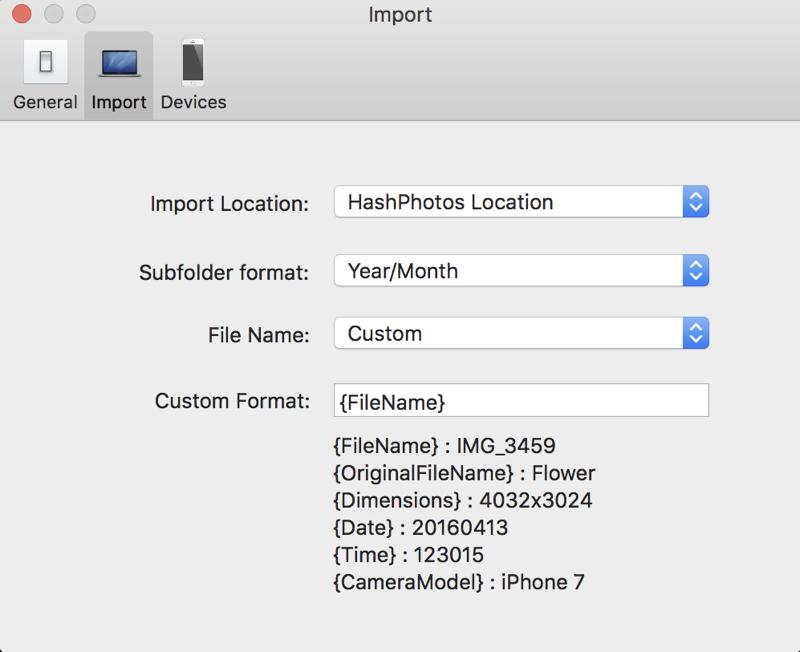HashPhotos import options