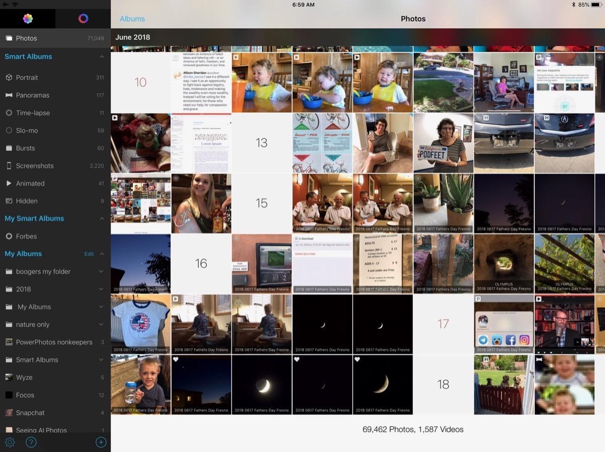 HashPhotos left sidebar